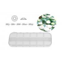 Glaskristalle Opal grün