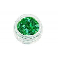 Nail Art Pailletten groß grün